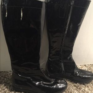 Cole Haan Nike Air Black Patent Leather Boots